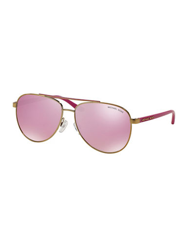 Michael Kors Pilot Hvar Aviator Sunglasses-PINK-One Size