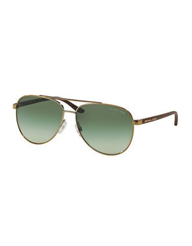 Michael Kors Pilot Hvar Aviator Sunglasses-GOLD-One Size