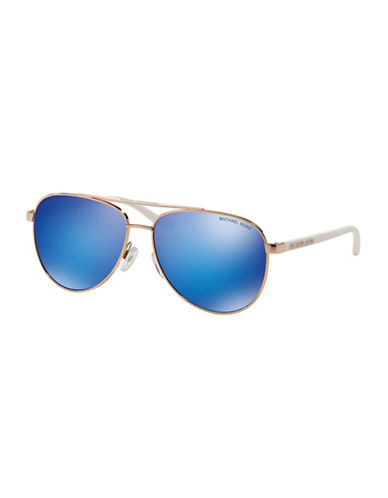 Michael Kors Pilot Hvar Aviator Sunglasses-WHITE-One Size