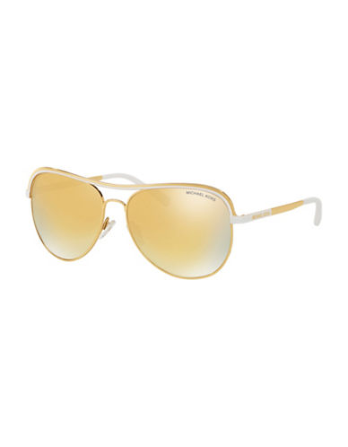 Michael Kors 0MK1012 Mirror Lens 58mm Aviators-YELLOW-One Size