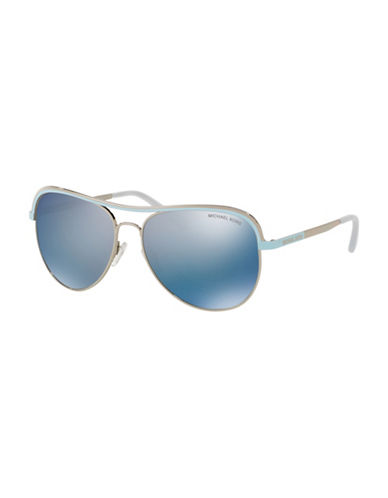 Michael Kors 0MK1012 Mirror Lens 58mm Aviators-GREY-One Size