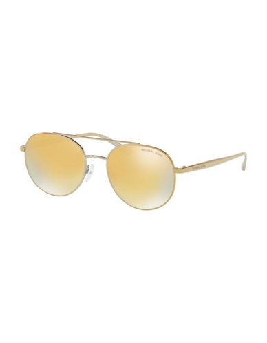 Ray-Ban 53MM Pilot Round Sunglasses-LIQUID GOLD-61 mm