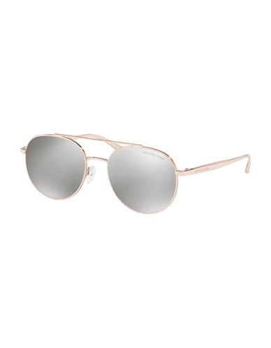 Ray-Ban 53MM Pilot Round Sunglasses-SILVER-55 mm