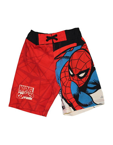 Licensed Tees Spider-Man Printed Swim Shorts-RED-5-6 88994582_RED_5-6