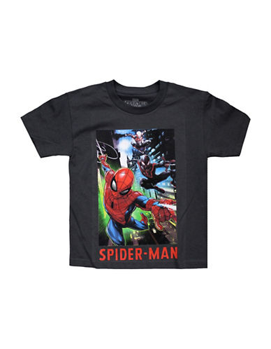 Spider-Man Short Sleeve Spiderman Tee-GREY-X-Large