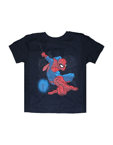 Spider-Man Short Sleeve Spiderman T-Shirt-BLUE-5