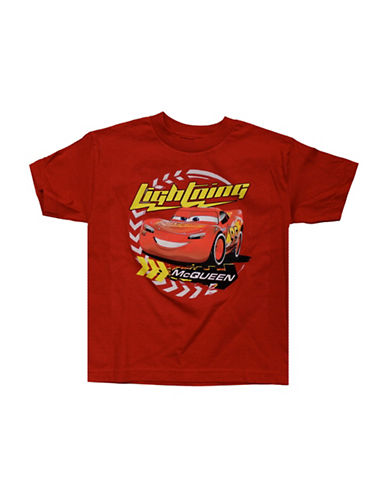 Licensed Tees Cars Lightning McQueen Graphic Tee-RED-6