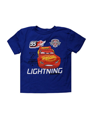Licensed Tees Cars Lightning McQueen Multi Graphic Tee-BLUE-5