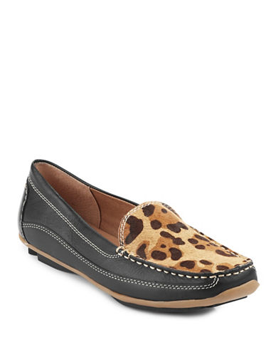 Melia Riviera Moc-Toe Leopard Calf Hair Loafers-BLACK LEOPARD-EUR 36/US 6