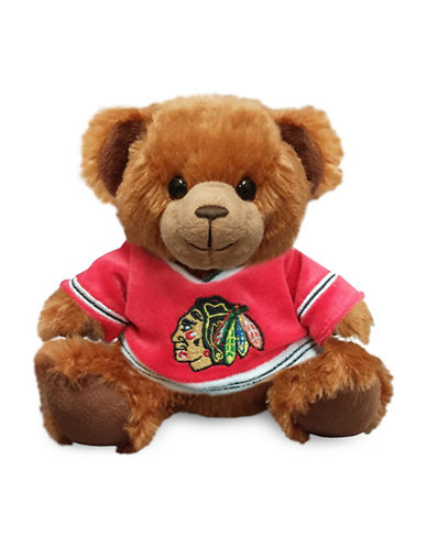 Forever Collectibles Chicago Blackhawks Jersey Sweater Bear Toy-RED-One Size