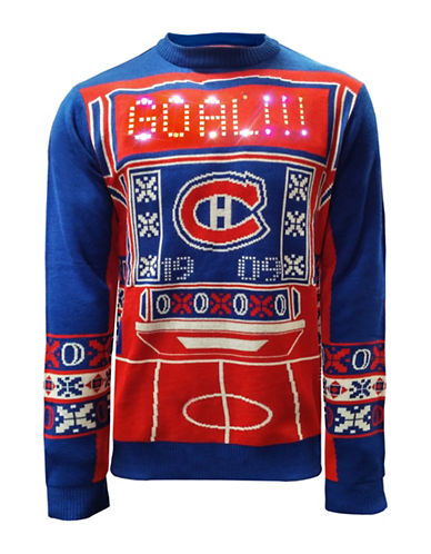 Klew Montreal Canadiens Light Up Sweater-RED/BLUE-Medium