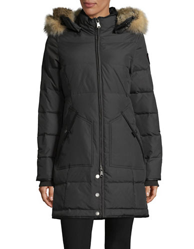 Pajar Cougar Down Faux Fur-Trimmed Parka-CHARCOAL-Small