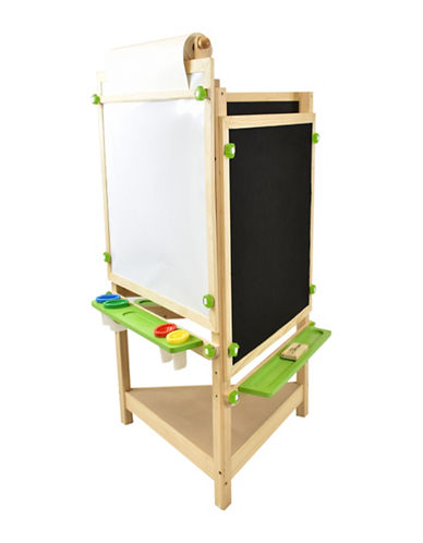 Little Partners Tri-Sided Learn and Play Art Center Easel-NATURAL-One Size