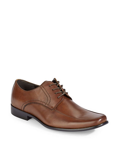Pegabo Unelalian Leather Dress Shoes-COGNAC-EU 42/US 9