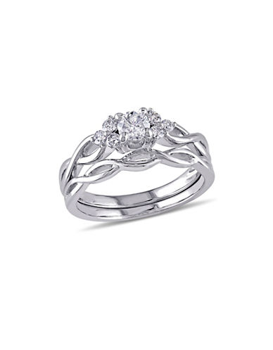 Concerto 0.5CT Diamond 14K White Gold Infinity Bridal Set-DIAMOND-5
