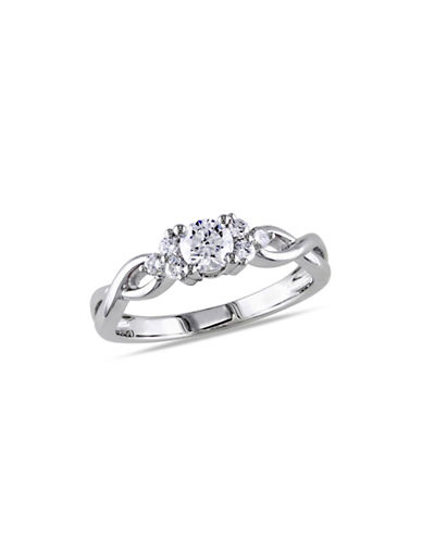 Concerto 0.5CT Diamond 14K White Gold Infinity Engagement Ring-DIAMOND-5