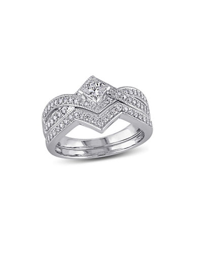 Concerto 0.625CT Diamond 14K White Gold Bridal Set-DIAMOND-8