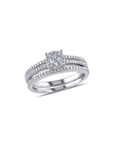 Concerto 0.5CT Diamond 14K White Gold Bridal Set-DIAMOND-6