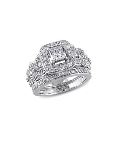 Concerto 1.25CT Diamond 14K White Gold Halo Bridal Set-DIAMOND-6