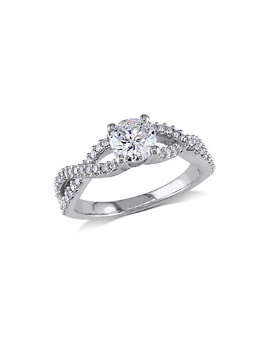 Concerto 1CT Diamond 14K White Gold Engagement Ring-DIAMOND-5