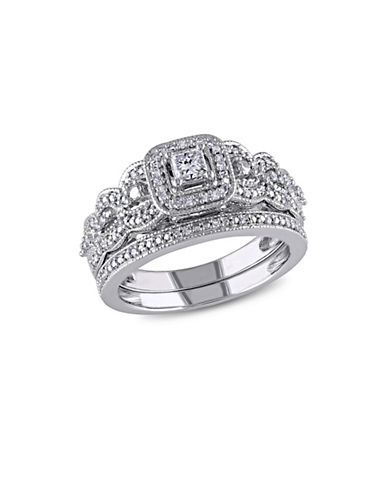Concerto 0.5CT Diamond 14K White Gold Bridal Set-DIAMOND-7