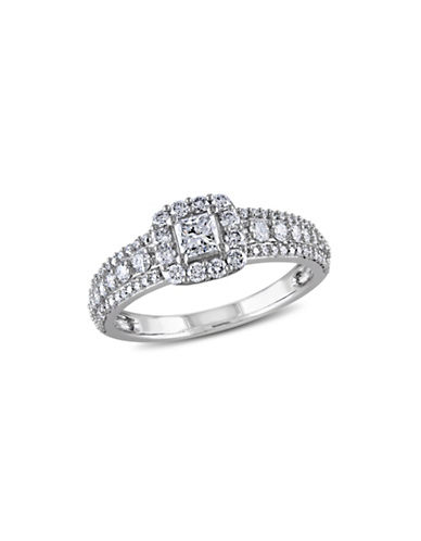 Concerto 1CT Diamond 14K White Gold Halo Engagement Ring-DIAMOND-6