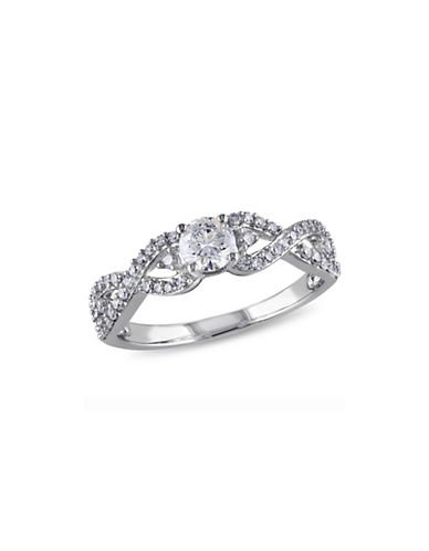 Concerto 0.75CT Diamond 14K White Gold Engagement Ring-DIAMOND-5