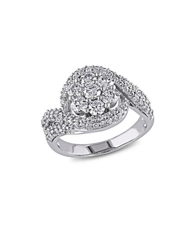 Concerto 2CT Diamond 14K White Gold Floral Engagement Ring-DIAMOND-8