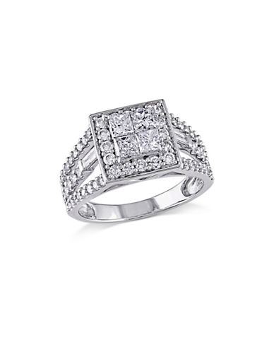 Concerto 1.5CT Multi-Shape Diamond 14K White Gold Engagement Ring-DIAMOND-9
