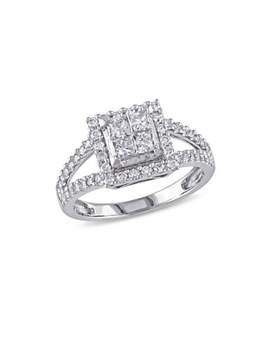 Concerto 1 CT Diamond 14K White Gold Halo Engagement Ring-DIAMOND-9