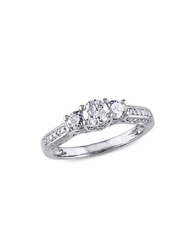 Concerto 1CT Diamond 14K White Gold Three-Stone Engagement Ring-DIAMOND-5