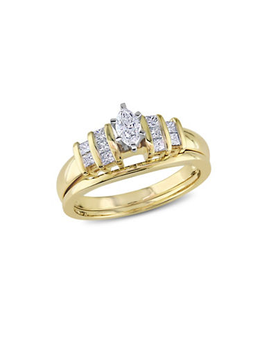 Concerto 0.5CT Diamond 14K Two-Tone Gold Bridal Set-DIAMOND-5