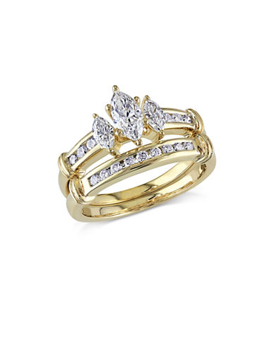 Concerto 1CT Diamond 14K Yellow Gold Three-Stone Bridal Set-DIAMOND-5