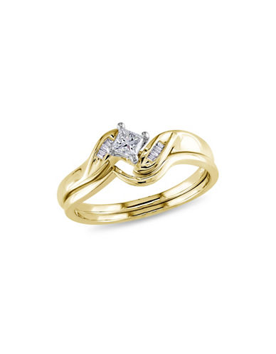 Concerto 0.25CT Diamond 14K Two-Tone Gold Bridal Set-GOLD-8