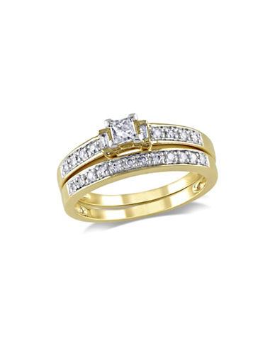 Concerto 0.33CT Multi-Shape Diamond 14K Yellow Gold Bridal Set-DIAMOND-8