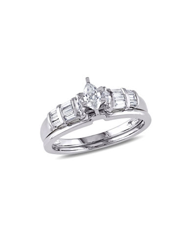Concerto 0.5CT Diamond 14K White Gold Three-Stone Bridal Set-DIAMOND-9