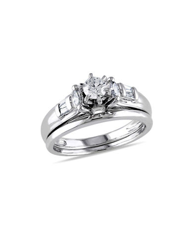 Concerto 0.5CT Multi-Shape Diamond 14K White Gold Bridal Set-DIAMOND-7