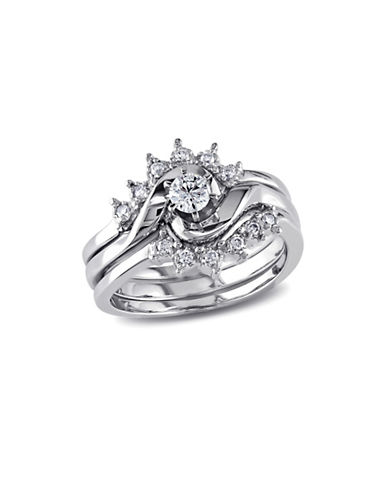 Concerto 0.25CT Diamond 14K White Gold Three-Piece Bridal Set-DIAMOND-9
