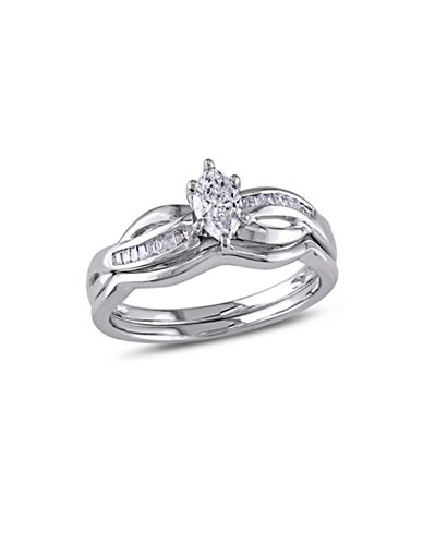 Concerto 0.5CT Diamond 14K White Gold Bridal Set-DIAMOND-9