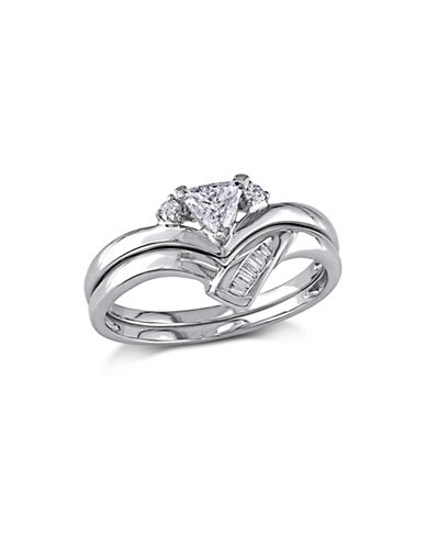 Concerto 0.33CT Fancy-Cut Diamond 14K White Gold Bridal Set-DIAMOND-7