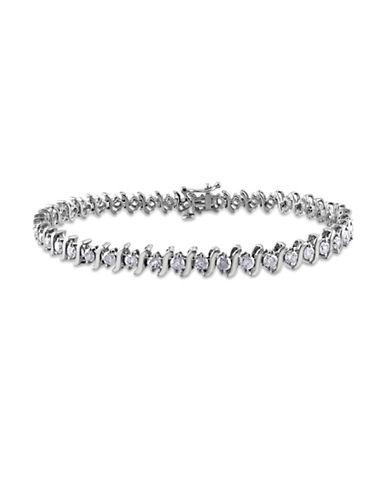 Concerto 14K White Gold 3 Total Carat Weight Diamond S-Link Tennis Bracelet-DIAMOND-One Size