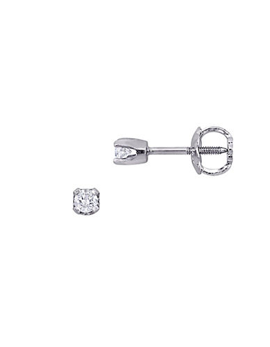 Concerto 14K White Gold 0.1 Total Carat Weight Diamond Baby Stud Earrings-DIAMOND-One Size