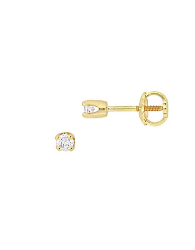 Concerto 14K Yellow Gold 0.1 Total Carat Weight Diamond Baby Stud Earrings-DIAMOND-One Size