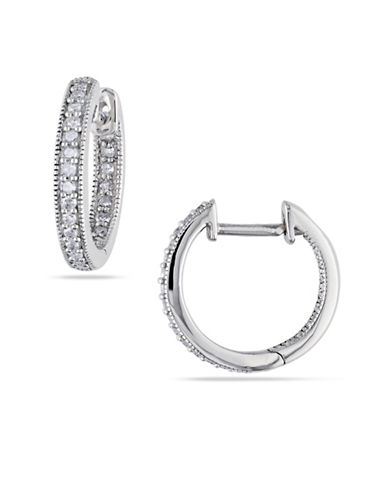 Concerto 14K White Gold 0.25 Total Carat Weight Diamond Hoop Earrings-DIAMOND-One Size