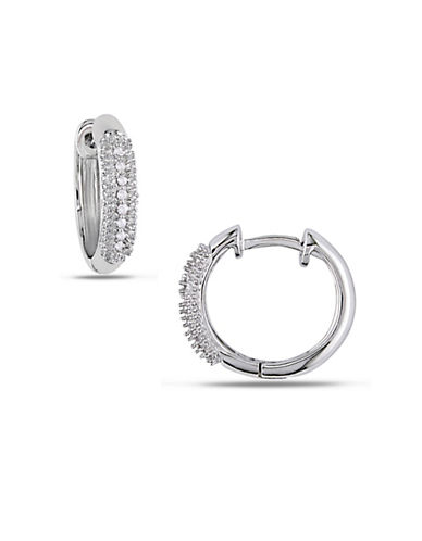 Concerto 14K White Gold 0.1 Total Carat Weight Diamond Hoop Earrings-DIAMOND-One Size