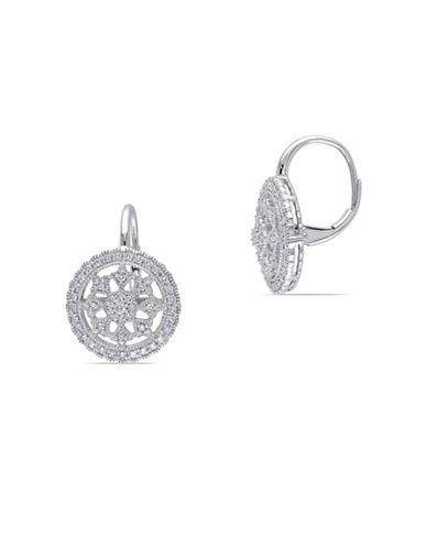Concerto 14K White Gold 0.5 Total Carat Weight Diamond Vintage Earrings-DIAMOND-One Size