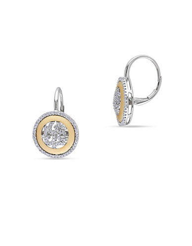 Concerto 14K Two-Tone Gold 0.5 Total Carat Weight Diamond Lever Back Earrings-DIAMOND-One Size
