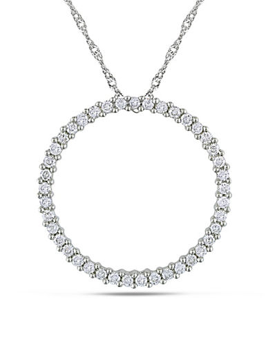 Concerto 14K White Gold 0.5 Total Carat Weight Diamond Circle Necklace-DIAMOND-One Size