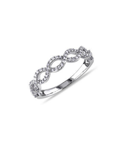 Concerto 14K White Gold 0.25 Total Carat Weight Diamond Twist Ring-DIAMOND-9
