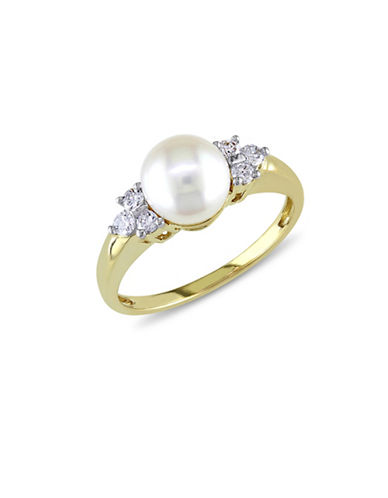 Concerto 7-7.5mm White Akoya Pearl and 14K Yellow Gold Ring-PEARL-5
